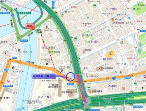 ASGL阿波座 アクセスマップ