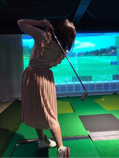 藤井 加奈子 ASGL シミュレーションゴルフ体験