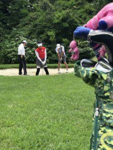 ナパラゴルフ 一本松コースにてラウンドレッスン